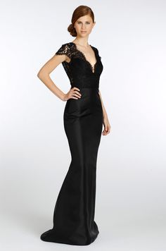 Love this silhouette, need to figure out how much it is and if it comes in other colors... Noir by Lazaro, Fall 2013