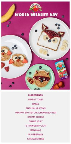 #WorldWildlifeDay is the perfect excuse to craft some cute critters on your morning toast!