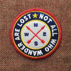 Not All Who Wander Are Lost Iron-On Patch Scout by ShopRedArrow