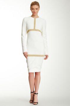 Bill Blass Metallic Knit Contrast Dress by Assorted on @HauteLook