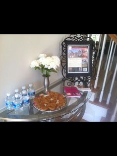 I love the idea of using a picture frame to hold the flyer!
