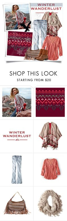 """Winter Wanderlust with American Eagle: Contest Entry"" by clotheshawg ❤ liked on Polyvore featuring American Eagle Outfitters and aeostyle"