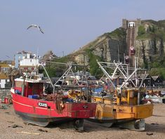 Hastings fishing boats on beach