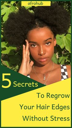 Looking to regrow your hair's edges? You might be surprised to learn that simple changes your in diet and natural hair regimen (among other things) can be really effective. Find out exactly how you can achieve this in the article! #naturalhairgrowth #naturalhairproducts #protectivestyles #naturalhairstyles #naturalhairregimen #naturalhairgrowth #howtolayedges #howtogrowedges #naturalhairtips