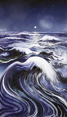 """Thebe's Revenge - Brett Whiteley"" I just think this looks beautiful Nocturne, Avant Garde Artists, Photo D Art, Surf, Chef D Oeuvre, Wow Art, All Nature, Australian Artists, Painting Inspiration"