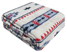 "All Seasons Micro Fleece Native American Plush Throw Blanket Oversized 60 x 70"" Blue Red Southwest Storehouse http://www.amazon.com/dp/B011CNQ7HI/ref=cm_sw_r_pi_dp_xyWQvb049EZRK"
