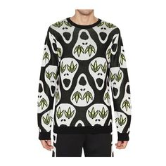 Adidas By Jeremy Scott Skull Wool Knit Sweater ($235) found on Polyvore