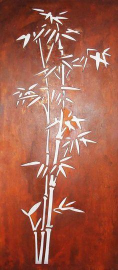 Outdoor Laser Cut Wall Art - Bamboo from Earth Homewares