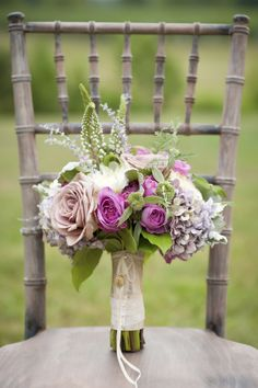beautiful lavender and white bouquet