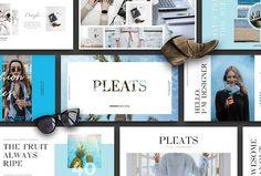 PLEATS - Powerpoint Fashion Slides by EVZSLIDE.STD on @creativemarket