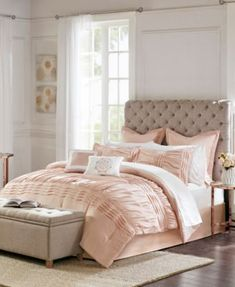 Home Essence Ardenia 16 Piece Complete Bedding Set With 2 Sheet Sets, Size: California King, Pink Bedding Sets Online, Comforter Sets, Shabby Chic Comforter, Small Apartment Decorating, Space Furniture, Bed Sizes, Flat Sheets, Small Apartments, Bedroom Apartment