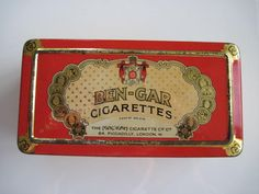 Excited to share the latest addition to my #etsy shop: Ben-Gar Egyptian Cigarette tin (100/empty) by The MalKah Cigarette Company c.1920 http://etsy.me/2CjqeEK #vintage #collectables #tobaccocollectibles