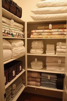 Bathroom linen closet organization small spaces master bath ideas for 2019 Room Organization, Airing Cupboard, Home Organisation, Walk In Closet Design, Home Organization, Closet Storage, Linen Closet, Laundry Room Organization, Closet Organization