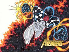 Cosmic Spiderman by WilliamGuy on DeviantArt Amazing Spiderman, Spiderman Kunst, Marvel Comic Character, Marvel Characters, Comic Book Heroes, Comic Books Art, Cosmic Spider Man, Captain Universe, Spider Verse