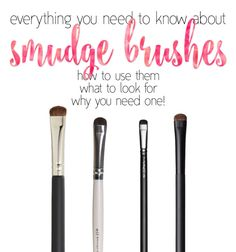 Great info on how to use a smudge brush!