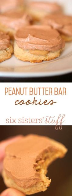 Lunch Lady Peanut Butter Bar Cookies from SixSistersStuff.com