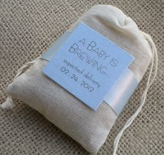 A Baby Boy is Brewing Tea Bag .... cute idea for baby shower favors or game gifts!-----just an idea. Kinda cute for a tea party the am. N.