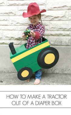 Cardboard Box Tractor Costume | C.R.A.F.T. | Bloglovin'