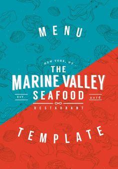 Marinevalley, Plantilla de Papelería para Restaurante By Luz Viera  (Suriblossom) on Pagephilia Viera, Templates, Artwork, Projects, Poster, Nautical, Template, Restaurants, Plants