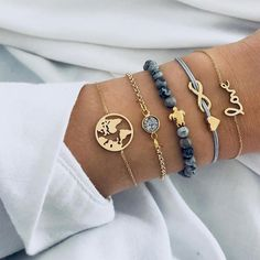 Buy Ckysee Bohemian Map Heart Turtle Charm Bracelets Set Bangles For Women Fashion Crystal Beads Bracelet Party Jewelry Arrow Bracelet, Tassel Bracelet, Strand Bracelet, Bracelet Set, Bangle Bracelets, Diamond Bracelets, Silver Bracelets, Bangle Set, Bracelets With Charms