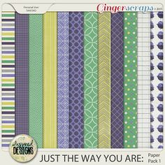 JUST THE WAY YOU ARE: Paper Pack 1