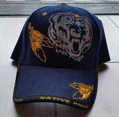 Native Pride Baseball Cap With Bear Native American Velcro Adjustable Hat O/S #Unbranded #BaseballCap
