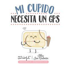 """""""Hay Cupidos que todavía andan un pelín perdidillos... #mrwonderfulshop #SanValentín My Cupido needs a GPS... #sanvalentinesday"""""""