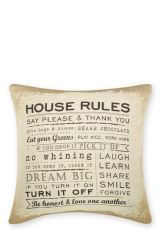 House Rules Tapestry Cushion
