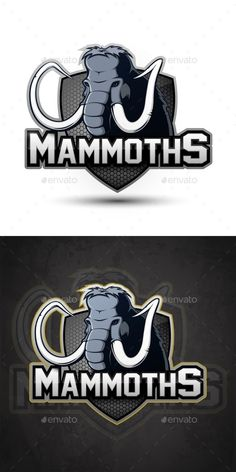 Vector Sports Emblem of Mammoth Sports emblem of a mammoth on a white background. Vector illustration #Sports, #Vector, #Mammoth, #Emblem Game Logo Design, Elephant Logo, Mundo Comic, Mascot Design, Sports Logo, Cool Logo, Airsoft, Animals And Pets, Denver