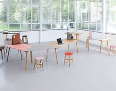 RAIL MODULAR OFFICE TABLE COLLECTION BY ZEITRAUM - Cafe Culture + Insitu