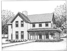 LOVE this! It's different than any other floor plan I've seen and is actually practical.  Country   Farmhouse  Southern   House Plan 41018