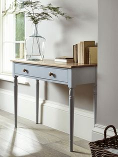Apsley Oak Topped Console Table