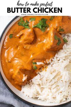 The Best Butter Chicken Recipe, Butter Chicken Rezept, Butter Chicken Curry, Indian Chicken Recipes, Indian Butter Chicken, Easy Indian Recipes, Asian Recipes, Chicken Recipes For One, Easy Recipes