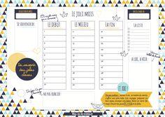 Organisateur mensuel (à imprimer) #printable_organizer