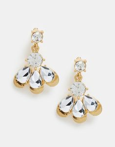 Little Mistress Crystal Petal Drop Earrings