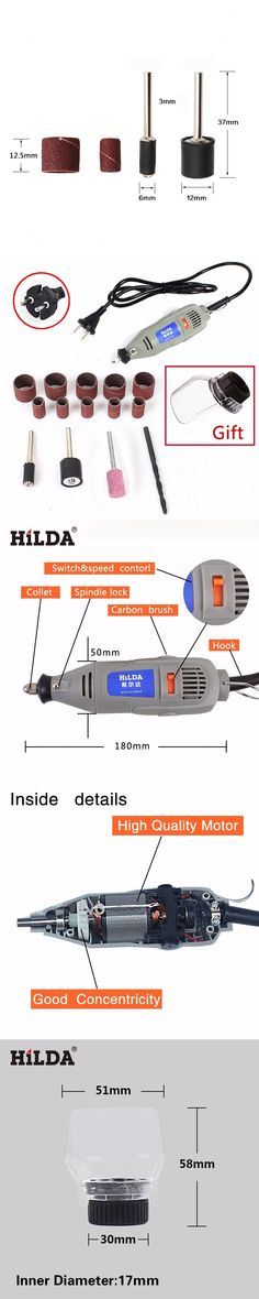 HILDA 150W Electric Tools Variable Speed Electric Dremel Style Rotary Tool Mini Drill Mini Grinder with an A550 Shield Gift