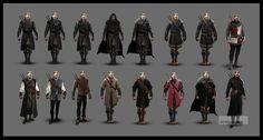 Witcher 3 Geralt armor concept arts by Scratcherpen on DeviantArt