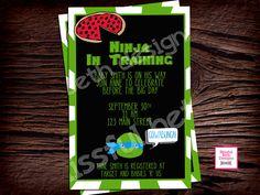 TMNT Baby Shower  Teenage Mutant Ninja by BlissfulBethDesigns, $10.00