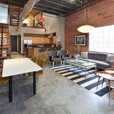 Eclectic Living Photos Loft Design Ideas, Pictures, Remodel, and Decor