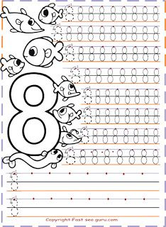 tracing numbers for kids.preschool numbers tracing worksheets coloring pages. Free Printable Handwriting Worksheets, Fun Worksheets For Kids, Free Kindergarten Worksheets, Numbers Kindergarten, Tracing Worksheets, Numbers Preschool, Printable Numbers, Math For Kids, Free Printables