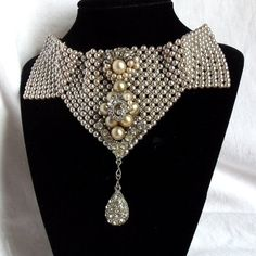 Hey, I found this really awesome Etsy listing at https://www.etsy.com/listing/90044039/wedding-choker-necklace-pearl-beaded