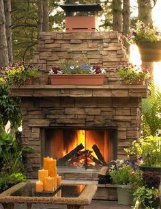 love the stone fireplace