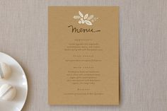 Rustic Harvest Menu Cards by Griffinbell Paper Co. at minted.com