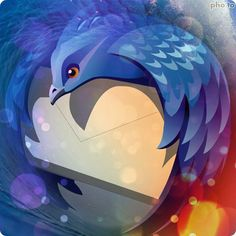 Mozilla Thunderbird Mascot by broovo at Support for Mozilla Firefox call tollfree 1-866-769-8127