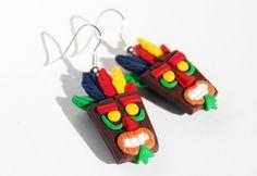 Crash Bandicoot earrings.