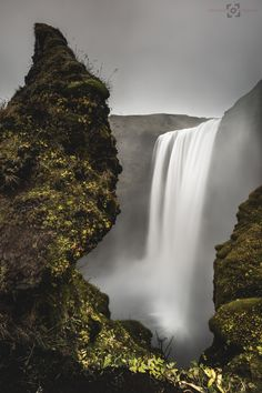 Water All Around - A long exposure, landscape image of Skogafoss in Southern Iceland, on a very wet morning.