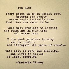 Chrissie Pinney  The Pact.