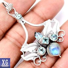 aqua aura donut pendant | Aqua Aura Crystal Point Double Terminated Silver Wire Wrapped Pendant