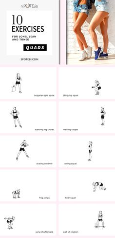 Tone the front of the thighs and sculpt long, lean, toned quads with this 17-minute killer LEG WORKOUT! #quads #workout #BestQuadExercises https://www.spotebi.com/workout-routines/quads-on-fire-at-home-quad-workout-women/