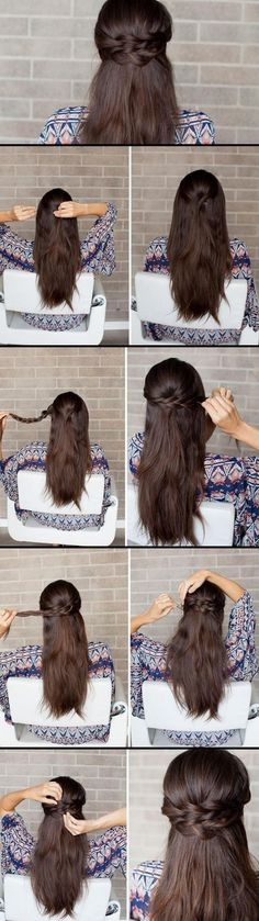 We love how this style can work for any type of hair from short to long and straight to curly!